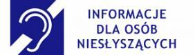 Informacje dla osób niesłyszących