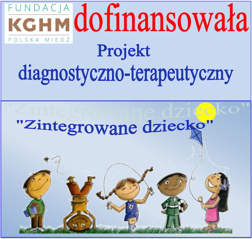 Plakat - KGHM dofinansowała projekt diagnostyczno - terpeutyczne