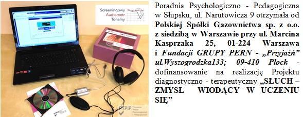 Poradnia otrzymała od Polskiej spólki Gazownictwa SAT Screeningowy Audiometr Tonalny