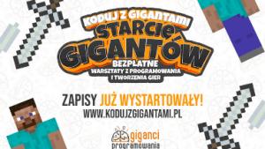 Przejście na stronę Koduj z Gigantami – 9 edycja międzynarodowych, bezpłatnych warsztatów z programowania
